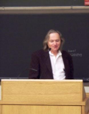 Paul at the podium