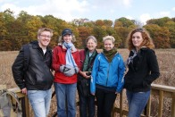 Jesse, Emily, Trish, Cara, and Elizabeth on RBG Arboretum walk.
