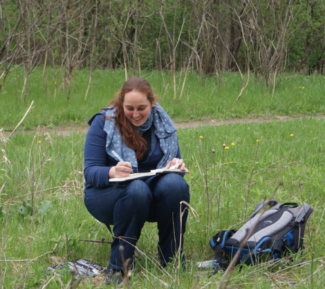 Field sketching. Photo: Emily S. Damstra