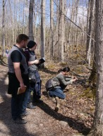 SONSI members sketching and photographing plants; photo by Emily Damstra