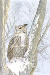 """Great Horned Owl"" by Kathryn Chorney"